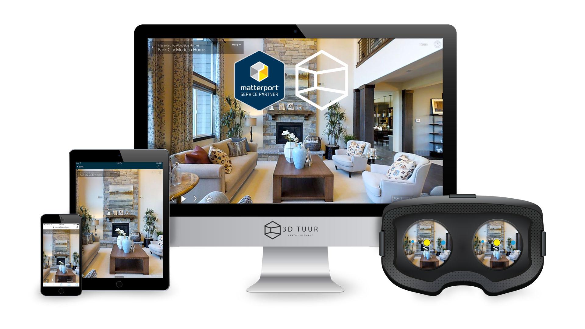 Sinu 3D tuuri võib vaadata arvutis, nutitelefonis, tahvlis või isegi VR prillides.